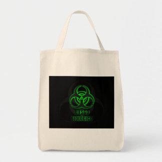 Símbolo Verde Brillante de Riesgo Biológico Sac En Toile Épicerie