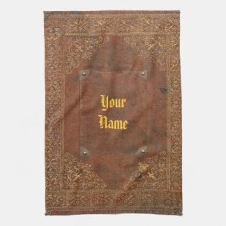 Simili cuir antique serviettes pour les mains