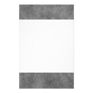 Simili cuir dans le gris d'ardoise papier à lettre customisé