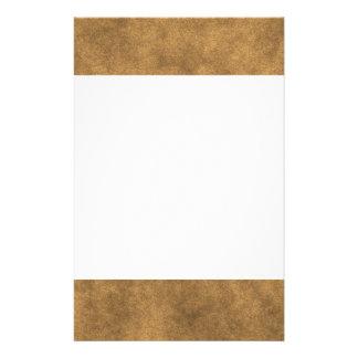 Simili cuir en or papier à lettre