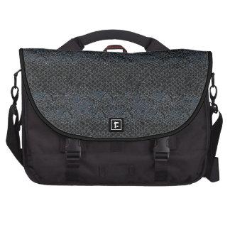 Simili cuir gris gris de noir de sac d'ordinateur  sacoches ordinateur portable