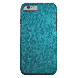 Simili cuir naturel de tons bleu-vert coque tough iPhone 6