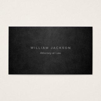 Simili cuir noir cartes de visite