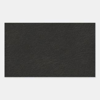 Simili cuir noir sticker rectangulaire