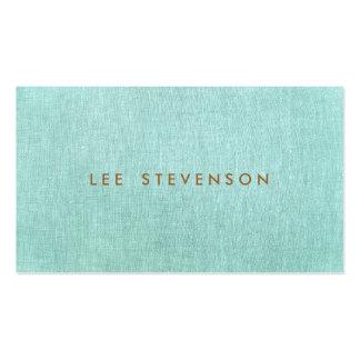 Simple bleu de turquoise minimaliste élégant cartes de visite personnelles