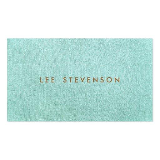 Simple, bleu de turquoise, minimaliste élégant cartes de visite personnelles