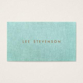 Simple, bleu de turquoise, minimaliste élégant cartes de visite