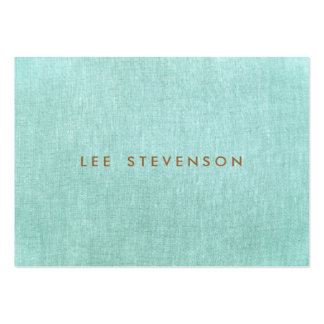 Simple, bleu de turquoise, regard de toile, carte de visite grand format