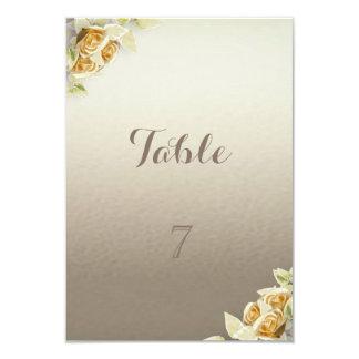Simple élégant, carte de Tableau de roses Carton D'invitation 8,89 Cm X 12,70 Cm