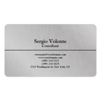 Simple élégant simple à la mode de gris argenté carte de visite standard