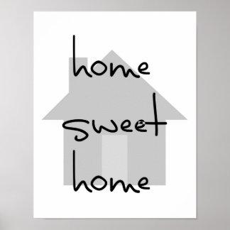 simple gris blanc noir moderne à la maison doux à poster