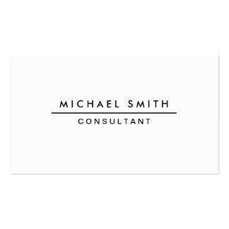 Simple moderne élégant professionnel blanc simple carte de visite standard