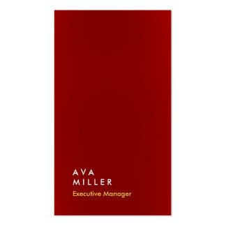 Simple moderne professionnel vertical de couleur carte de visite standard