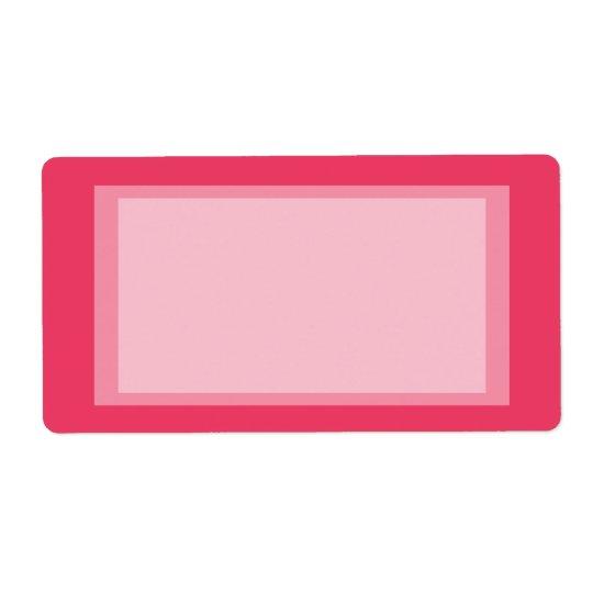 simple rose étiquette d'expédition