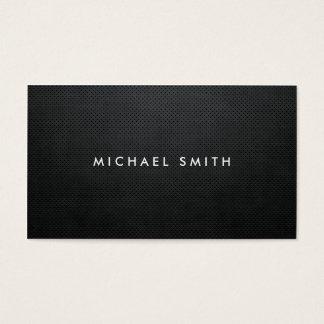 Simple simple noir professionnel moderne élégant cartes de visite