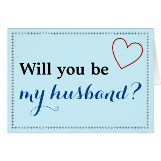 """Simple """"vous serez mon mari ?"""" Carte"""