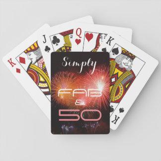Simplement 50 et ouvrier - cartes à jouer