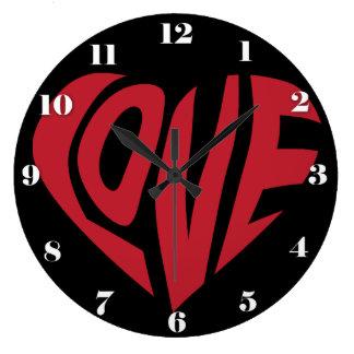 Simplement AMOUR Grande Horloge Ronde