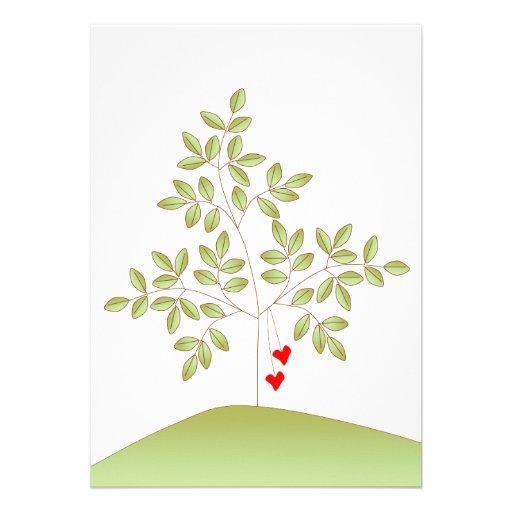 simplement arbre d 39 amour faire part de mariage carton d. Black Bedroom Furniture Sets. Home Design Ideas