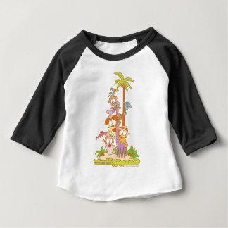 Simplement Garfield et amis montant une girafe T-shirt Pour Bébé