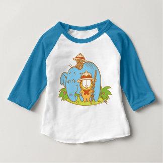 Simplement Garfield et Pooky avec un éléphant bleu T-shirt Pour Bébé
