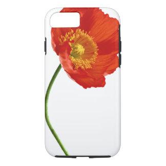 Simplicité rouge de pavot coque iPhone 7