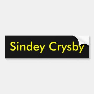 Sindey Crysby Autocollant De Voiture