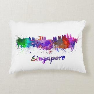Singapour skyline in watercolor coussins décoratifs