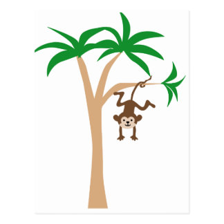 Singe accrochant sur l'arbre cartes postales