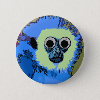 Singe bleu avec les yeux écarquillés pin's