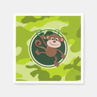 Singe ; camo vert clair, camouflage serviette en papier