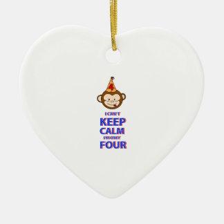 Singe conceptions 4 an ornement cœur en céramique