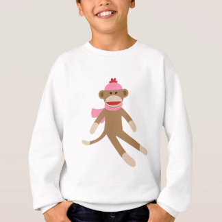 singe de chaussette de fille sweatshirt