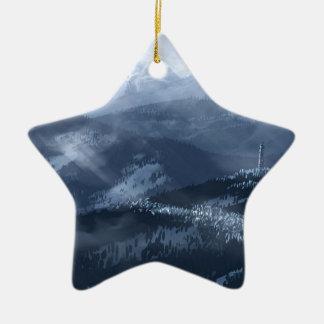 Singe de glace ornement étoile en céramique