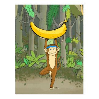Singe de yoga carte postale