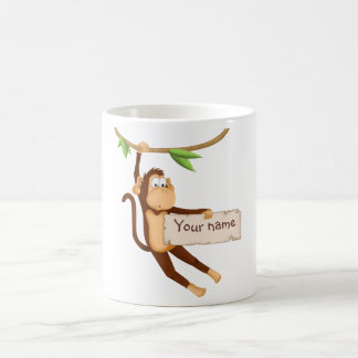 Singe drôle stockant votre texte mug