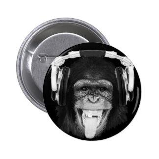 Singe du DJ Badges Avec Agrafe