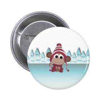 Singe du pays des merveilles d'hiver badge