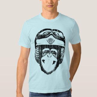 Singe heureux de Moto (noir de cru) T-shirt