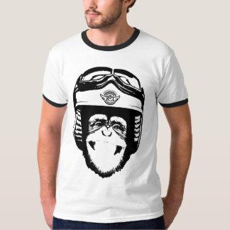 Singe heureux de Moto (noir) T-shirt