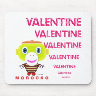 Singe-Morocko Valentine-Mignon Tapis De Souris