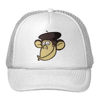 Singe parisien casquettes de camionneur