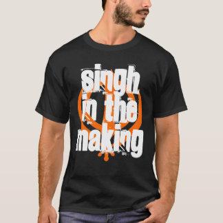 Singh dans la fabrication, noir - customisé t-shirt