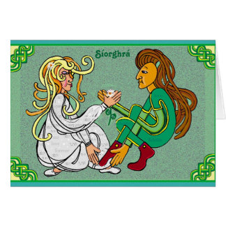Síorghrá - amour éternel dans l'Irlandais Cartes De Vœux