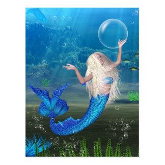 Sirène assez blonde avec la bulle cartes postales