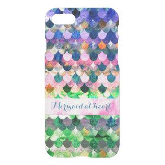 Sirène au motif coeur-Coloré de Mermaidscales Coque iPhone 7