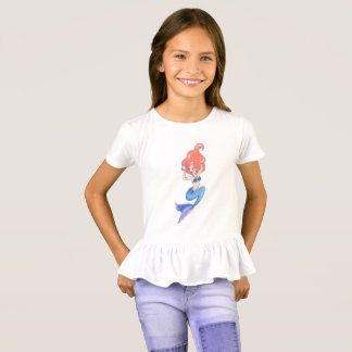 Sirène bleue de queue t-shirt