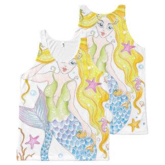 Sirène blonde mignonne bannières