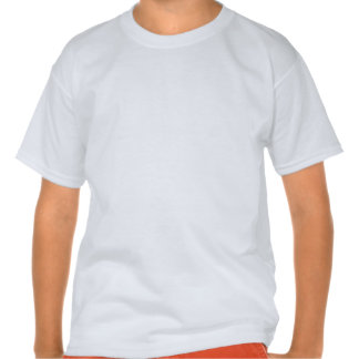 Sirène blonde sur les rayures lumineuses t-shirts