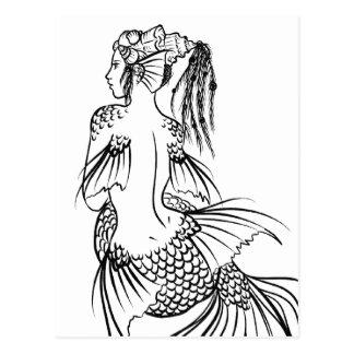 Sirène Carte Postale